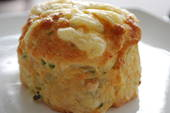 Cheese, bacon and herb scone