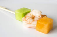 Prawn & Melon Skewers